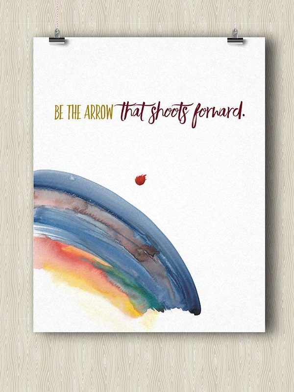 Be the Arrow that Shoots Forward - Yoga poster by Hand-Painted Yoga