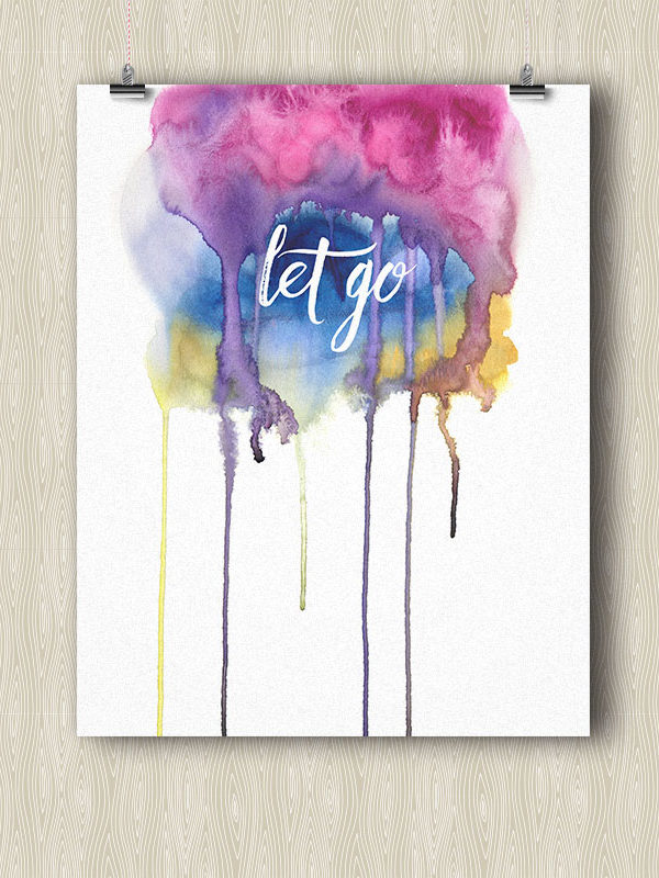Let Go - Yoga poster by Hand-Painted Yoga