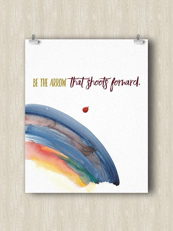Be the Arrow that Shoots Forward - Yoga art print by Hand-Painted Yoga