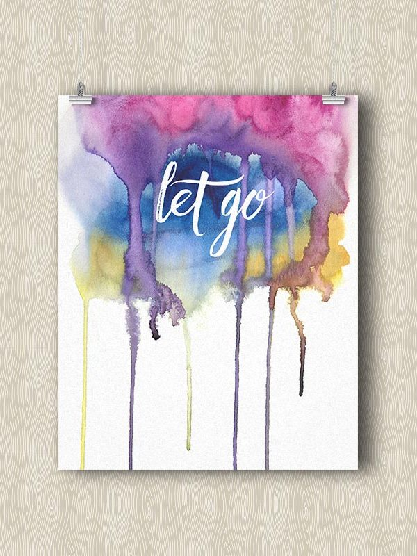 Let Go - Yoga art print by Hand-Painted Yoga