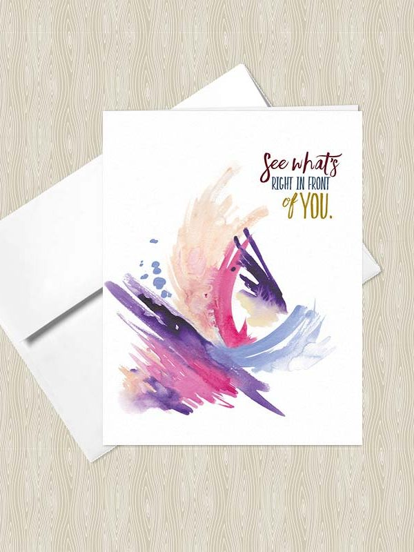 See what's right in front of you - Yoga greeting cards by Hand-Painted Yoga