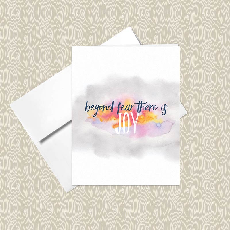 Beyond fear there is joy greeting card set set of 4 hand beyond fear there is joy greeting card m4hsunfo