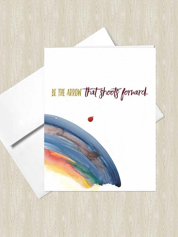 Be the Arrow that Shoots Forward - Yoga greeting cards by Hand-Painted Yoga