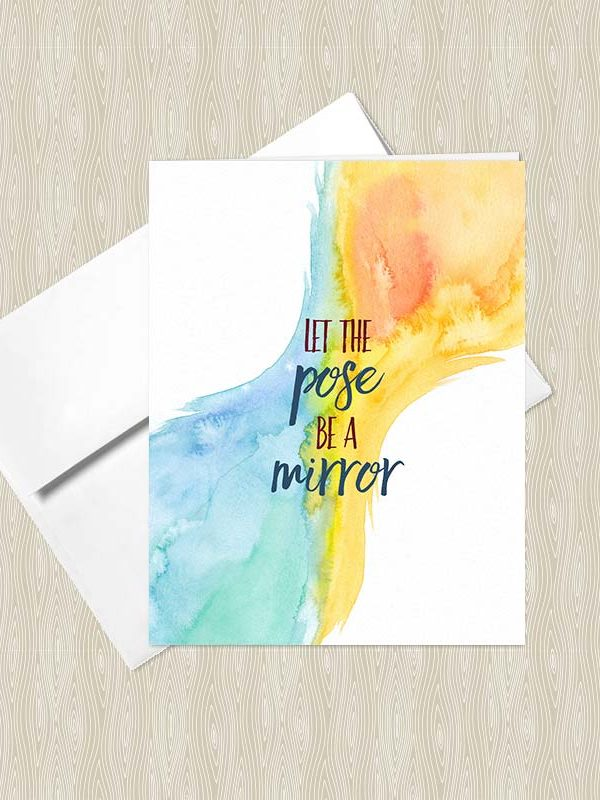 Let the Pose be a Mirror - Yoga greeting cards by Hand-Painted Yoga