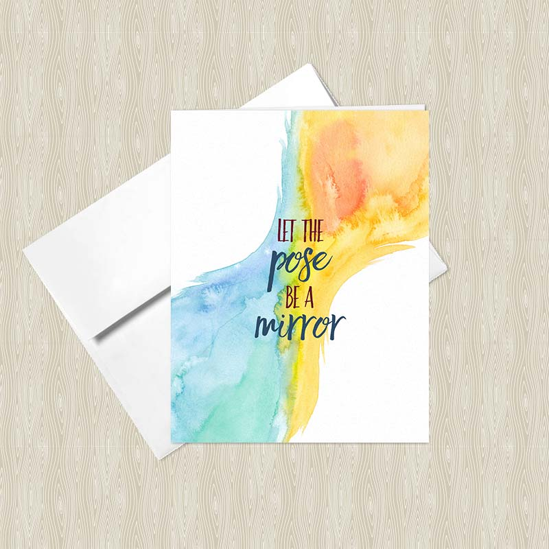 Let the pose be a mirror greeting card set set of 4 hand shop m4hsunfo