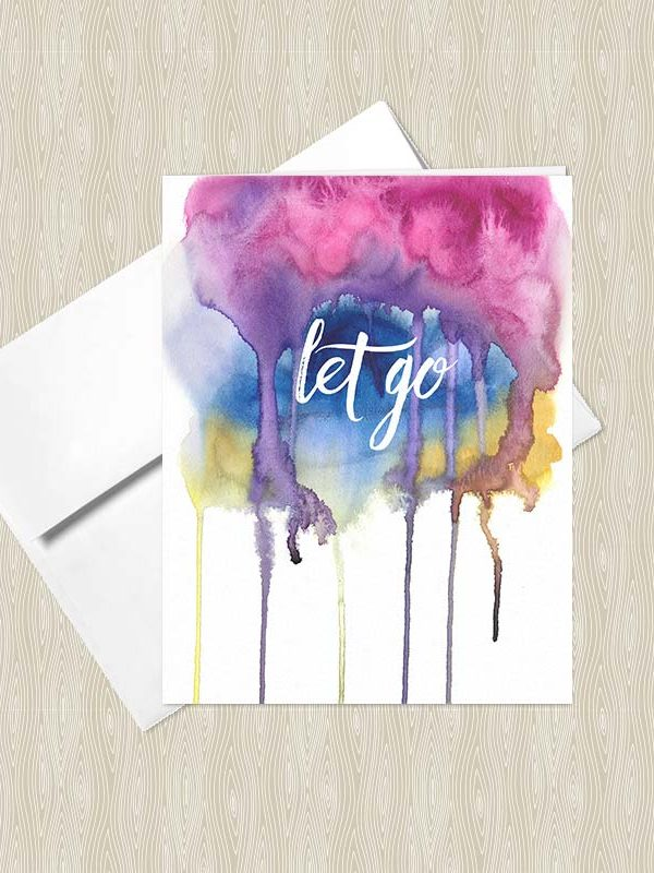 Let Go - Yoga greeting cards by Hand-Painted Yoga