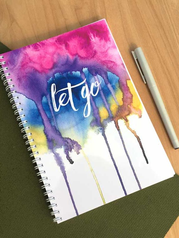 Let Go Spiral Bound Journal by Hand-Painted Yoga