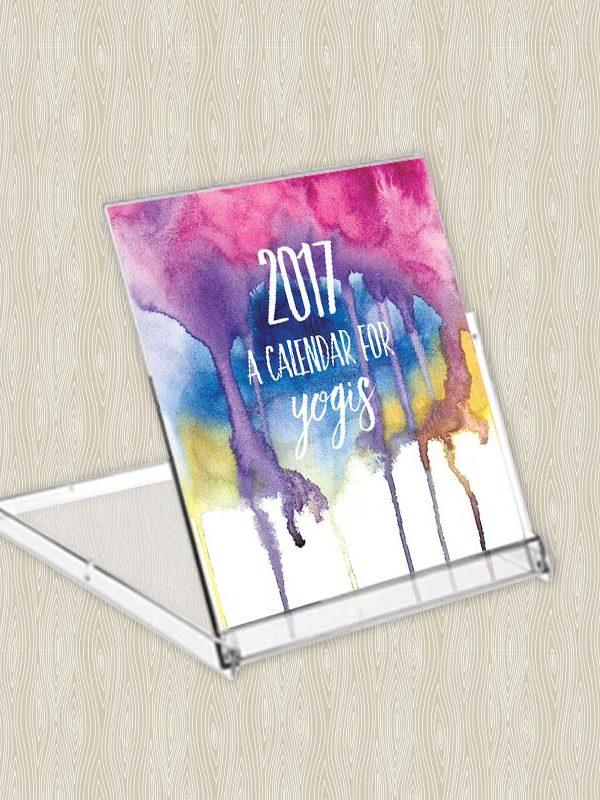 2017 Calendar for Yogis - Desk Calendar - Hand-Painted Yoga