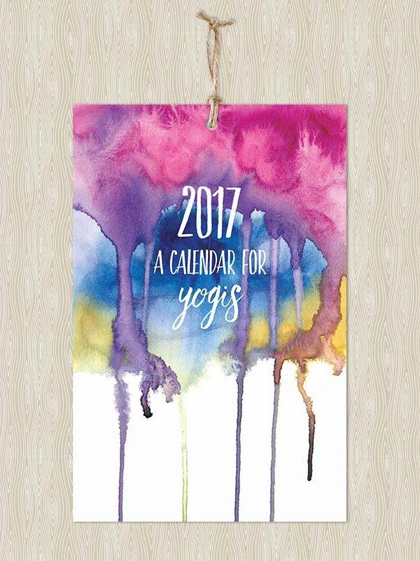 2017 Calendar for Yogis - Wall Calendar - Hand-Painted Yoga