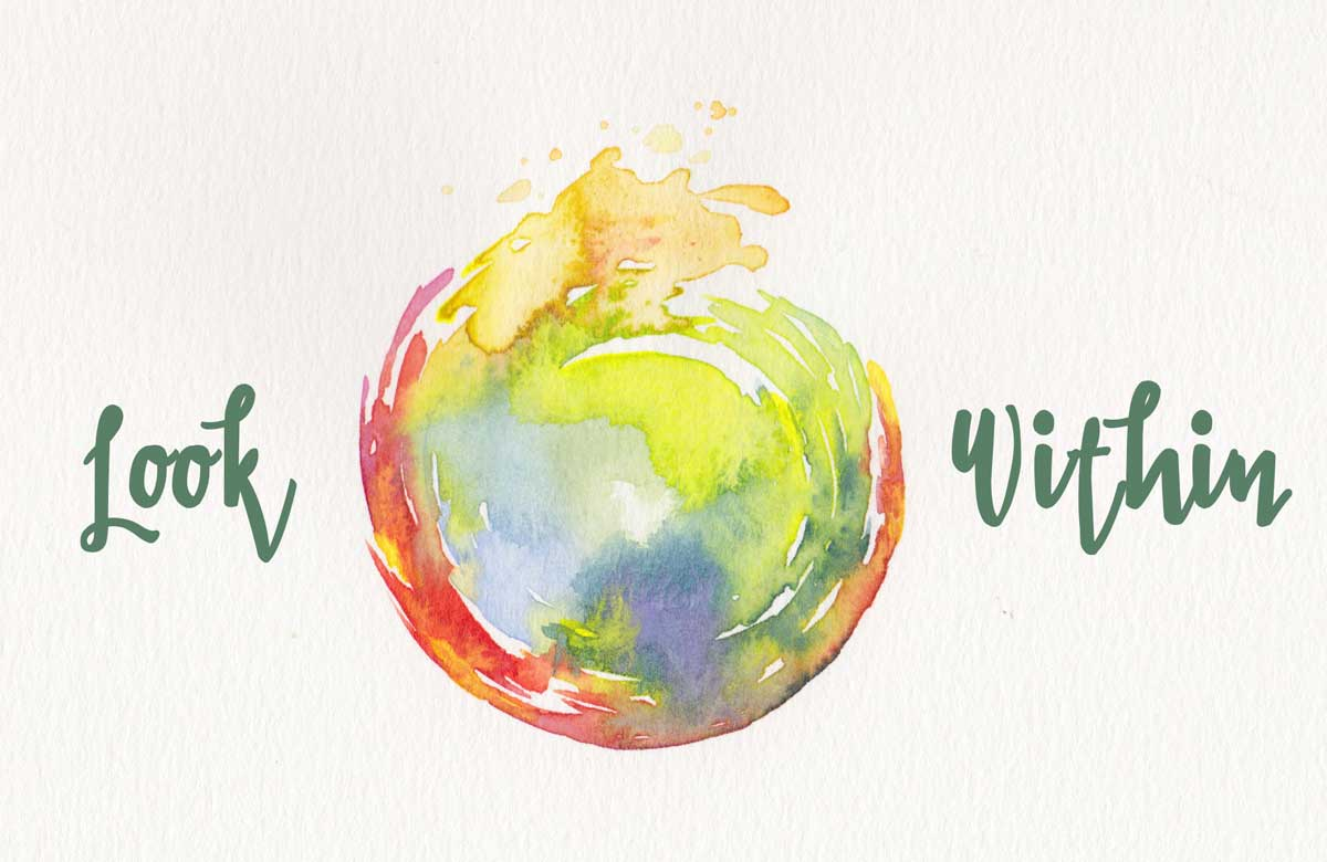 Look Within yoga art by Hand-Painted Yoga