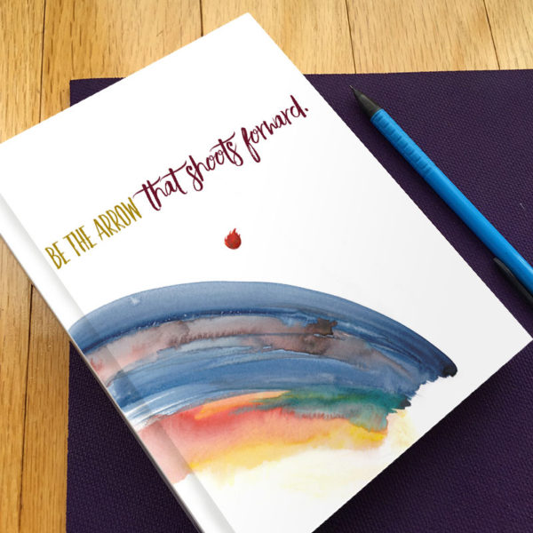 Be the Arrow Gratitude Journal by Hand-Painted Yoga