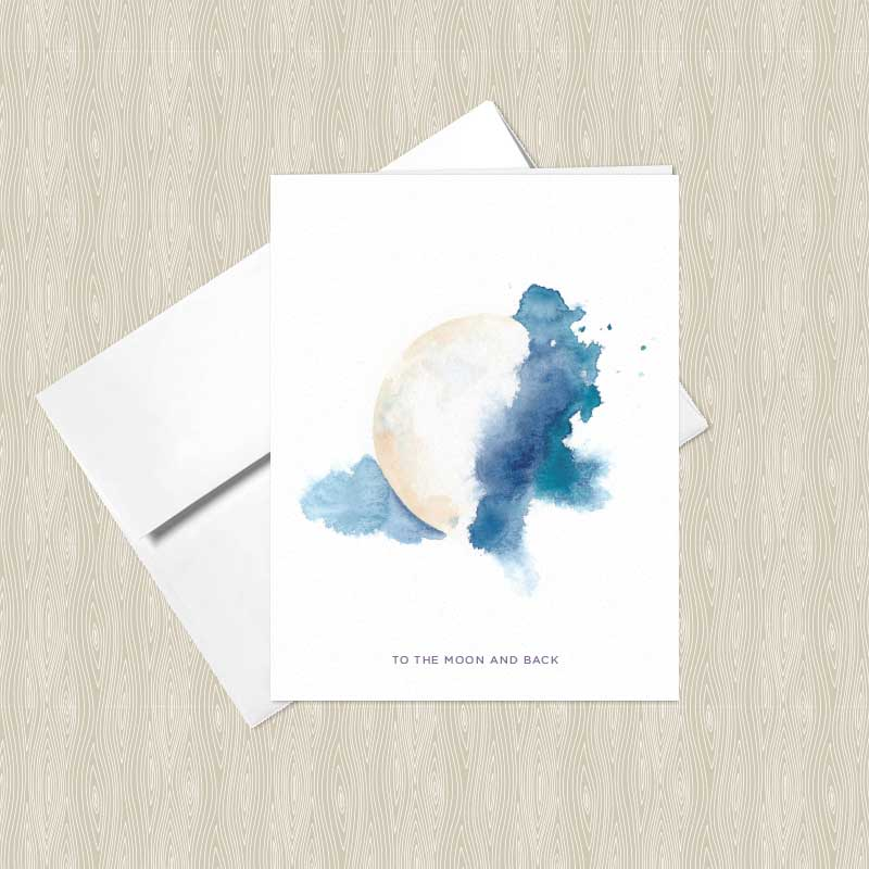 Mystic moon watercolor greeting cards set of 4 hand painted yoga mystic moon watercolor greeting cards by hand painted yoga m4hsunfo